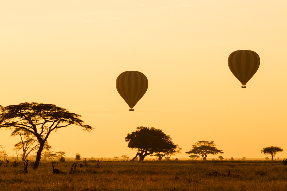 Hot air balloon rides Serengeti