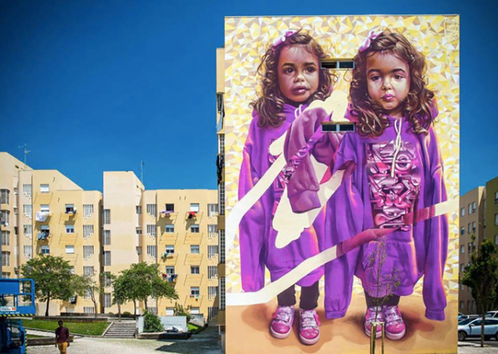 Things to do in Lisbon: Mural in Bairro Padre Cruz