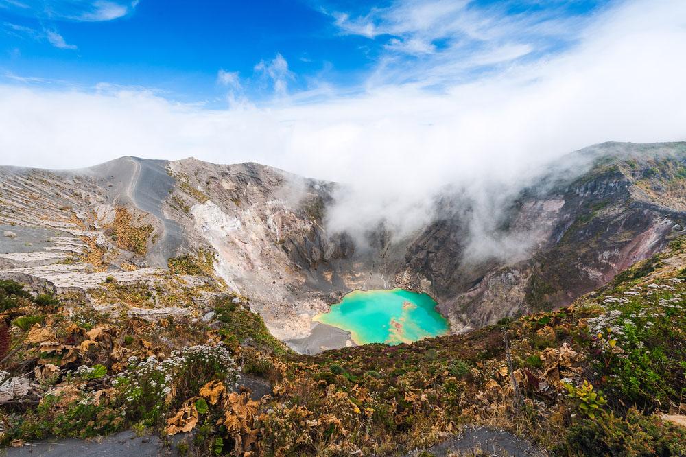 Costa Rica's volcanos: Emerald Lake