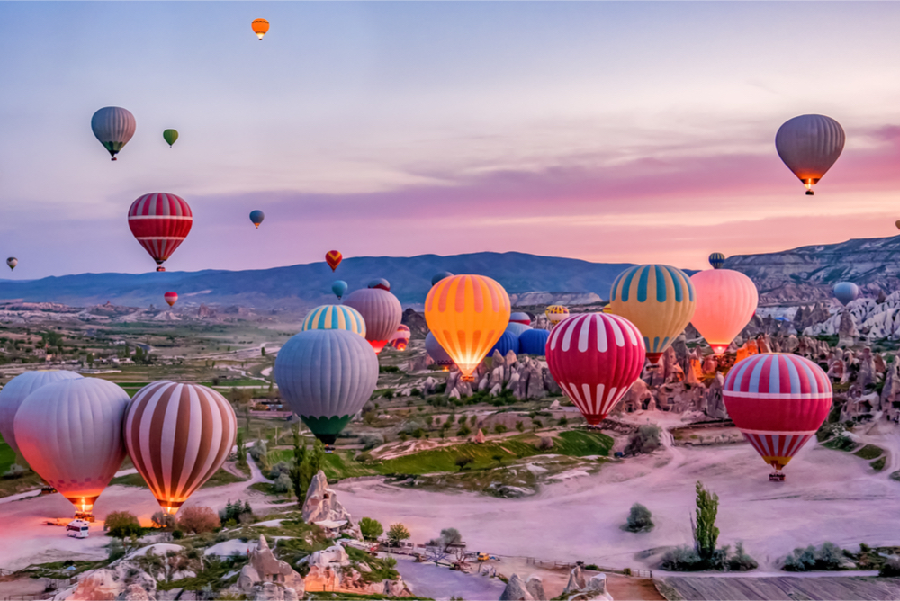 Hot air balloon: Cappadocia, Turkey