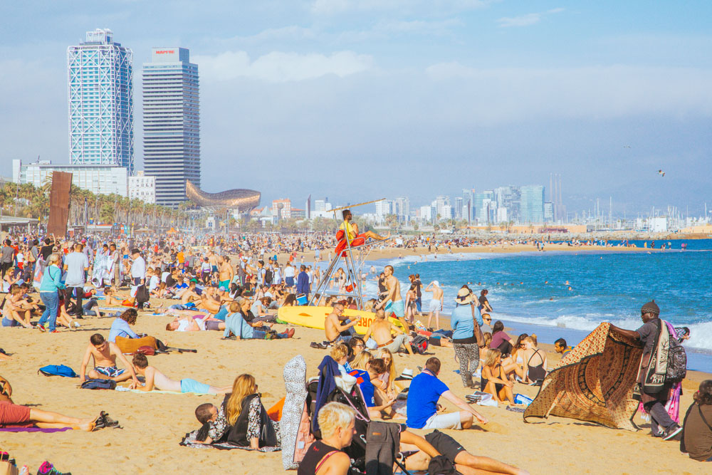 Best Beaches in Spain: La Barcelona Beach